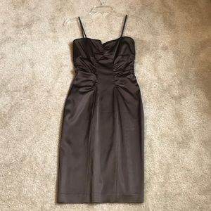Xscape satin brown dress size 4